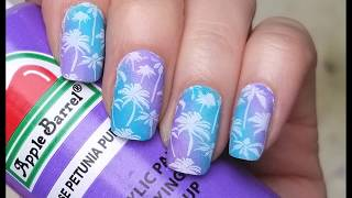 How To Gradient Nail Art With Acrylic Paint Nail Stamping