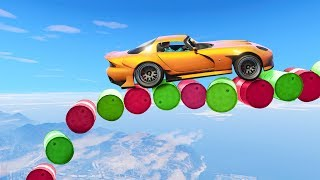 OUTRUN THE DEADLY FALLING BARRELS! (GTA 5 Races)