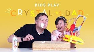 Crystal vs. Dad | Kids Play | HiHo Kids