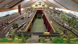 Dave`s Model Railway Tour Of The Completed  Layout Feb. 2015