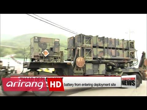 U.S. military brings key components of THAAD battery into Seongju