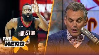 James Harden leads NBA MVP race according to NBA Media - Colin Cowherd reacts   THE HERD
