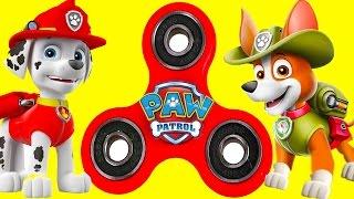 Paw Patrol Fidget Spinner Game with Skye, Marshall, Hatchimal Collegtible Surprise, Flipazoo