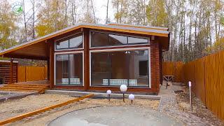 Современный гостевой дом-баня