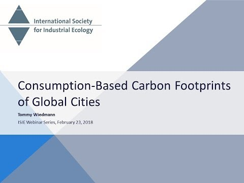 Consumption-Based Carbon Footprints of Global Cities - Tommy Wiedmann
