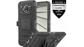 IDEA LINE INC MOTO E4 Heavy Duty Case With Tempered Glass Screen Protector