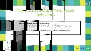 Behavior Reduction Plan