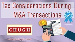 Tax Considerations during M&A Transactions