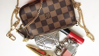 What fits in Louis Vuitton mini pouchette | 2017 review