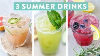 3 EASY Summer Cocktails