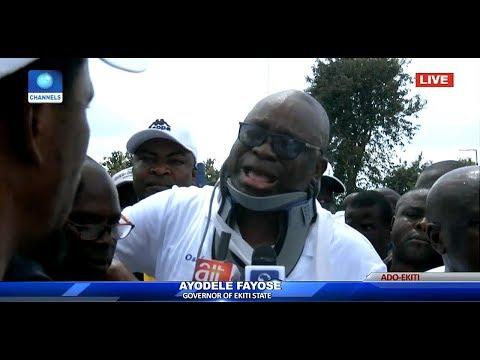Ekiti Election: Policemen kicked me with gun, Fayose cries