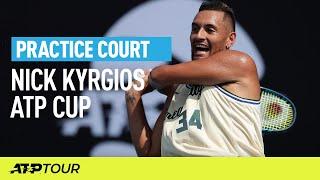 Nick Kyrgios Practice   ATP CUP