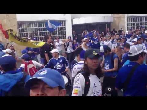 """""""CUMPLEAÑOS 67  MILLONARIOS COMANDOS AZULES DISTRITO CAPITAL"""" Barra: Comandos Azules • Club: Millonarios • País: Colombia"""