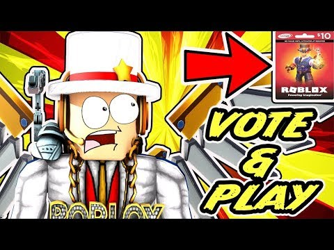 🔴 ROBLOX LIVE - DOWN! Vote/Play? - Arsenal, Epic Minigames, Deathrun, MM2 & More + ROBUX CARD