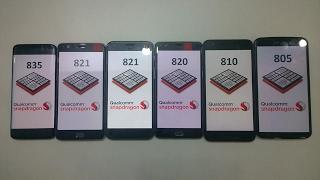 (Exynos 8895)Snapdragon 835 vs 821 vs 820 vs 810 vs 805 Benchmark (S8,Pixel,OnePlus 3T,3,Nexus 6P,6)