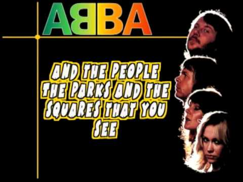ABBA - I am the city ( lyrics )
