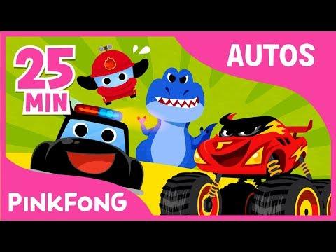 Las Mejores Canciones de Autos & Camiones Salvajes   +Recopilación   Pinkfong Canciones Infantiles