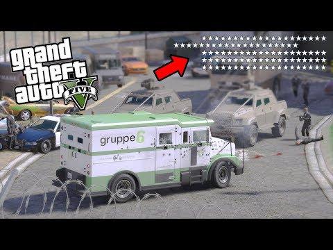 50 ESTRELLAS POR ROBO A BANCO de  GTA 5 - Grand Theft Auto V EdgarFtw