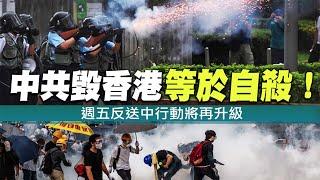 中共毀香港等於自殺!週五反送中行動將再升級|晚間8點新聞【2019年6月19日】|新唐人亞太電視