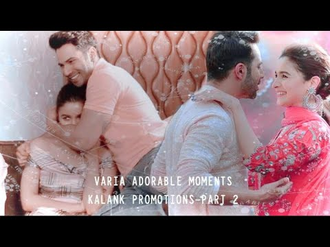 彡Varia adorable moments from Kalank promotions | Part 2 | Varia VM | Kalank