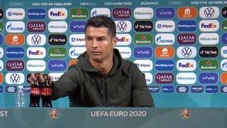 video: Cristiano Ronaldo and the Coca-Cola bottles: anti-obesity campaigners praise Portugal star