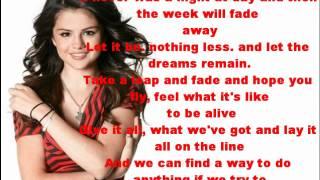Live Like There's No Tomorrow - Selena Gomez - Lyrics