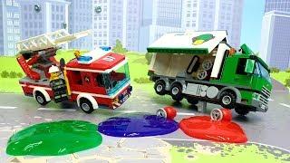 Пожарная машина у видео для детей - Не гони! Лего мультфильмы 2019 -  Lego cartoons for kids