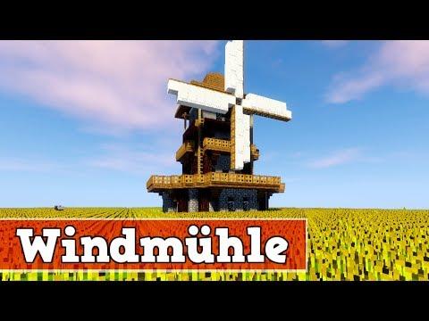 Wie baut man eine Windmühle in Minecraft   Minecraft Windmühle Bauen Deutsch