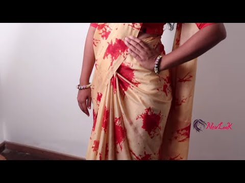 Different Saree Pallu Style like Bollywood Actress by Bong Beauty Navya - New Look