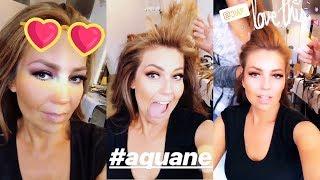 Thalía se divierte mientras se hace el pelo y el maquillaje [Aug 20-21, 2018]