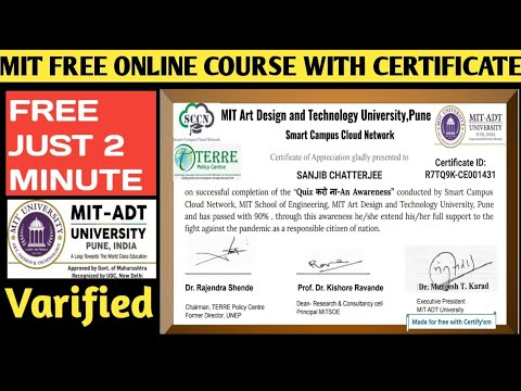 MIT Free Online Course With Certificate 2021   Free Online 10+ ...