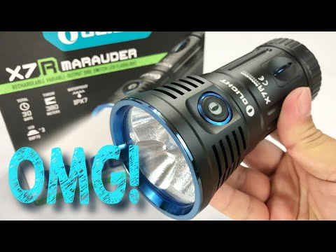 The Absolutely Insane 12,000 Lumens Olight X7R Marauder CREE HXP LED Flashlight Review