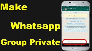How to Make Whatsapp Group Private || Whatsapp Group Privacy Setting || Group Par Privacy Lagaye
