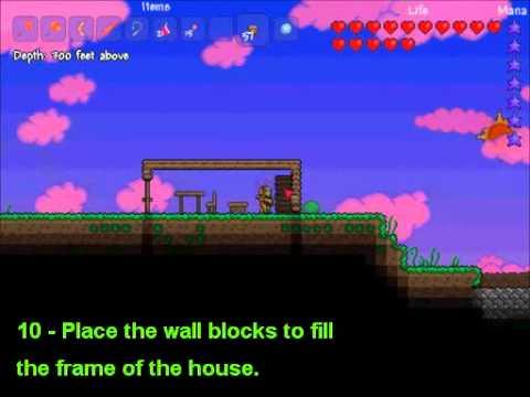 Decorating for NPCs – Basic House Tutorial for Terraria ... on