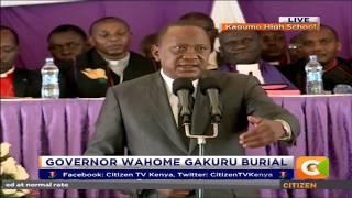 Pres. Kenyatta condoles with people of Nyeri at Late Governor Gakuru funeral