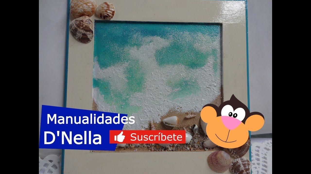 "Como Pintar un Cuadro de Playa Fácil,By:""Taller Nella 2017"""