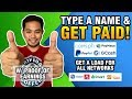 EARN MONEY JUST TYPING NAMES! LEGIT WEBSITE! POINTSBACK!
