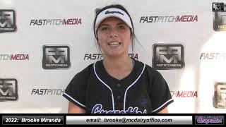 2022 Brooke Miranda 3.9 GPA Athletic Third Base Softball Skills Video - CA Grapettes 18 Gold