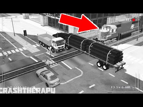 BeamNG Drive - Train Accidents #23 CCTV Edition