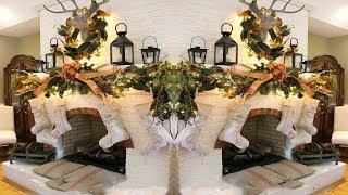 2017 Christmas Mantel Decorations 5