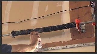 Lubricating a garage door