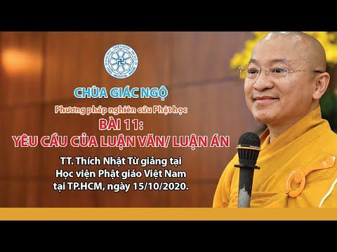 Yêu cầu của luận văn, luận án - Phương pháp nghiên cứu Phật học
