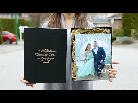 OUR WEDDING INVITATIONS IN A BOX!! OMG
