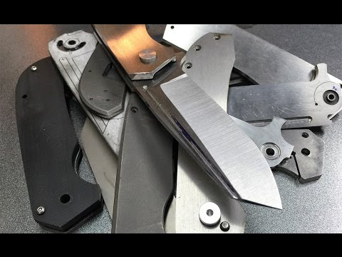 Making a folding knife #1  Finding a design that works