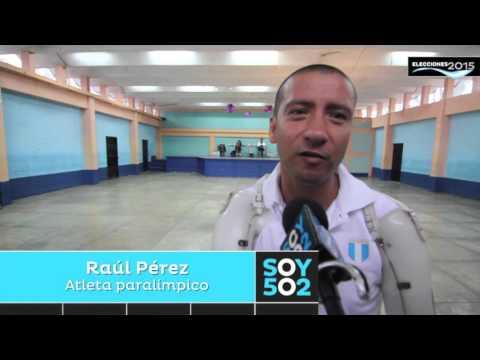 """Raúl Pérez: """"Como atleta paralímpico no podía dejar de votar"""""""