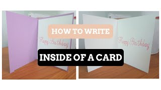 Cricut Design Space- How to write in the inside of your card