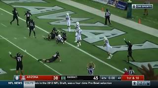 Khalil Tate Comes Up One Yard Short | Crazy Finish to Hawaii-Arizona | College Football Week Zero