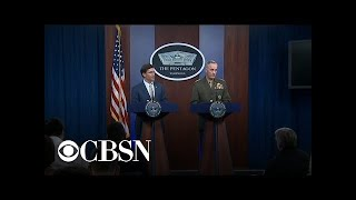 Pentagon holds press conference on Iran