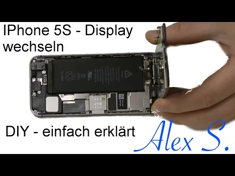 IPhone 5S Display wechseln, tauschen, umbau Frontkamera, sensoren Touch ID Homebutton Deutsch