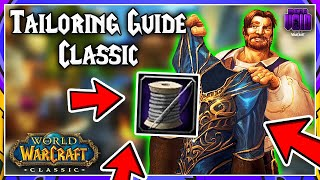 How to Level Tailoring VERY FAST in Classic WoW! (1-300) Bag Guide!
